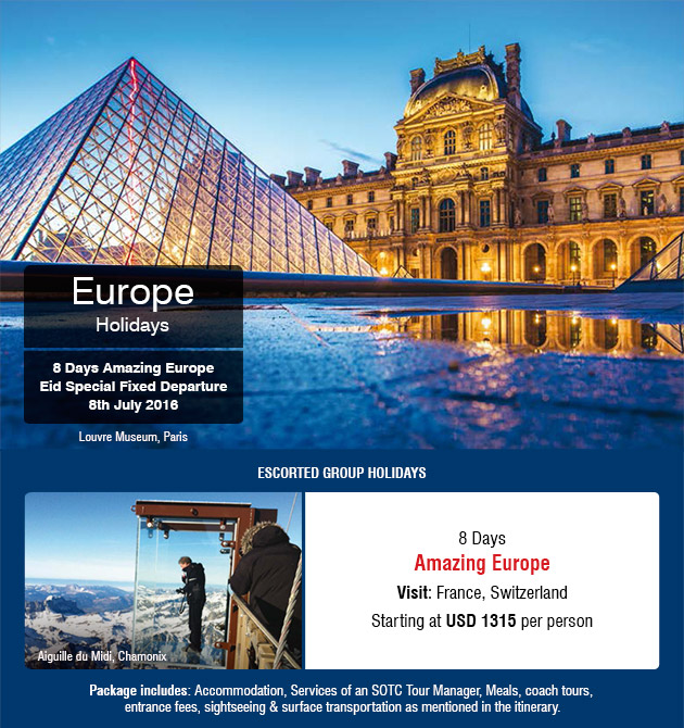 Amazing Europe SOTC - Europe travel package