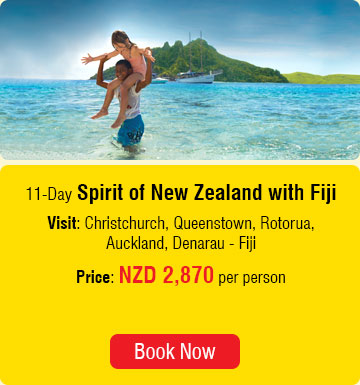 11 Days Spirit of New Zealand with Fiji