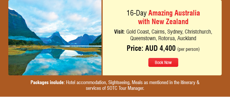 Amazing Australia with New Zealand Holidays