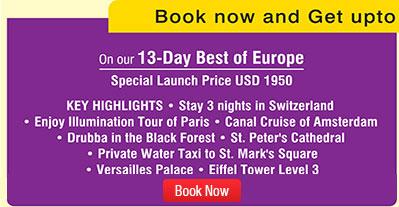 Europe Holidays SOTC - Best europe tours