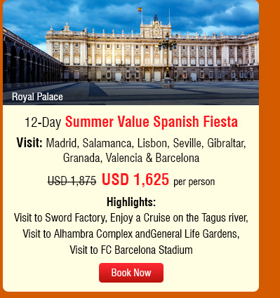 12-Day Summer Value Spanish Fiesta