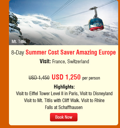 8-Day Summer Cost Saver Amazing Europe