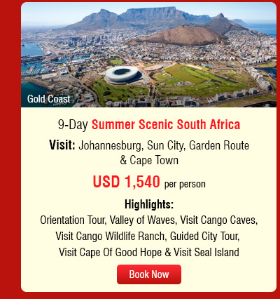 9-Day Summer Scenic South Africa