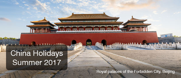 China Holidays Summer 2017