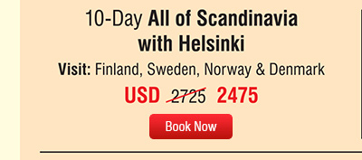 10-Day All of Scandinavia with Helsinki
