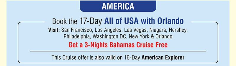 17-Day All of USA with Orlando